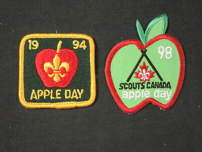 Scouts Canada 1994 and 1998 Apple Day Patches    FX