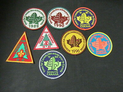 Scouts Canada  8 Trees for Canada  Patches   FX