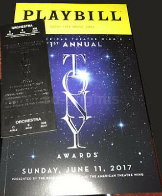 TONY Awards 71st Playbill 2017 144pgs + Ticket Broadway Hello Dolly Bette Midler