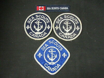 Scouts Canada  Sea Scout Patches, Lot of 5    FX