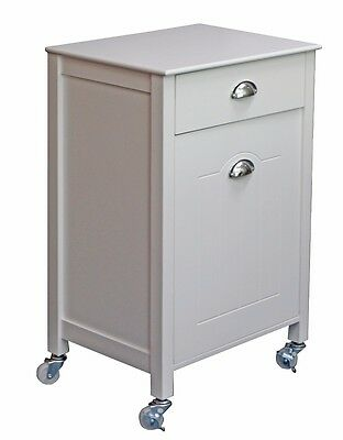 Twin Bin Kitchen Trolley w/ Drawer on Wheels