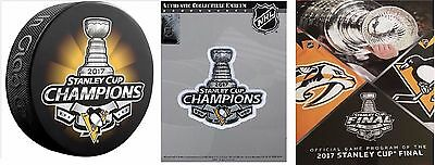 2017 Stanley Cup Final Pittsburgh Penguins Champions Program / Patch Champ Puck