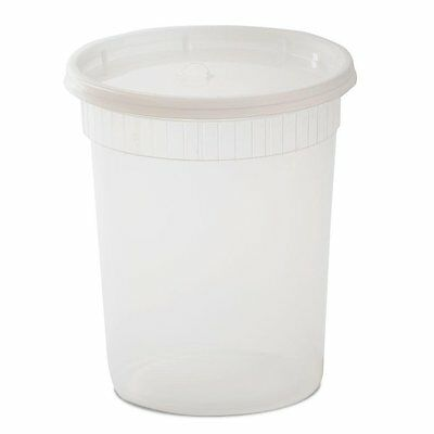 YW Plastic Soup/Food Container with Lids, 32 oz., 240 Piece