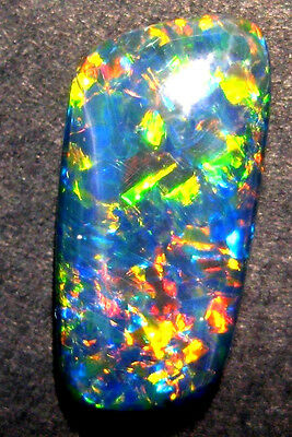 Beautiful Australian Opal Freeform Gem Grade Triplet, 15x7mm