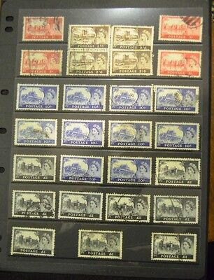RARE Stamps - Great Britain, Queen Elizabeth1955-58, Castle Collection set- Used