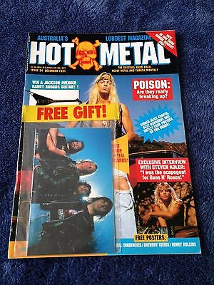 HOT METAL - Issue 34 - Australian Heavy Metal Magazine December 1991