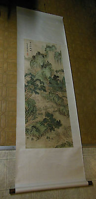 Antique Chinese Scroll Clars Auction San Francisco SIGNED Beautiful Hand Made!