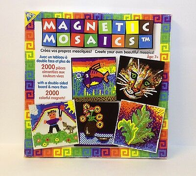 Orb Factory Magnetic Mosaics 2000 Pieces Magnets 2 Sided Board Art Craft Kit