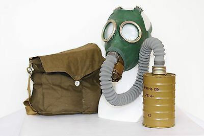 Gas MASK GP- 4 SOVIET RUSSIAN WW2 GREEN with FILTER + BAG exotic  GIFT ALL SIZES