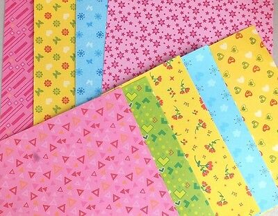40 JAPANESE MIX COLOR PATTERN ORIGAMI PAPER 15cm CRAFT CHINESE CHILDREN PARTY A9