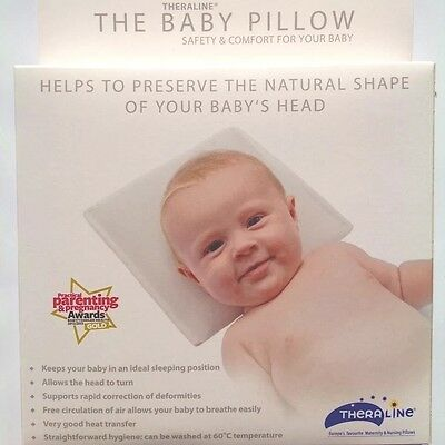 THERALINE Baby Pillow - Avoid flat head and any head deformities - NEW