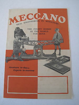"""MECCANO c 1930 LEAFLET AUSTRALIA """"REAL ENGINEERING IN MINIATURE"""" Hornby Dinky"""