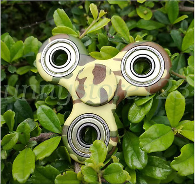 Tri Finger Hand Spinner Fidget Camouflage EDC Gyro Desk Toy Kids/Adults