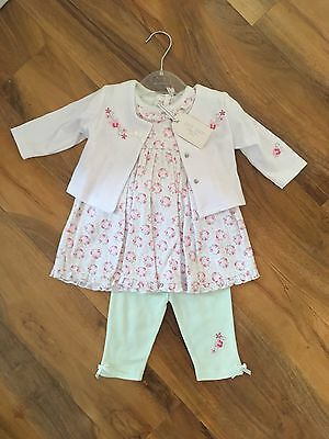 Baby Girls Summer Outfit 'Zip Zap' 0-3 Months New (548)