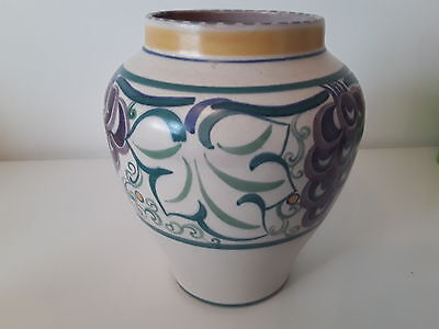 Early Poole Pottery Vase Grape Pattern ~ Vera Bridle 1924 - 1934