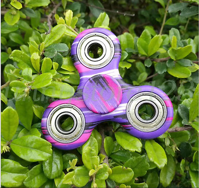 Fidget Hand Spinner Tri Finger Camouflage EDC Gyro Desk Toy Kids/Adults 3