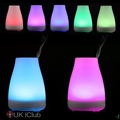 LED Air Humidifier Essential Oil Diffusers Button Burner Aroma Diffuser 100ml UK
