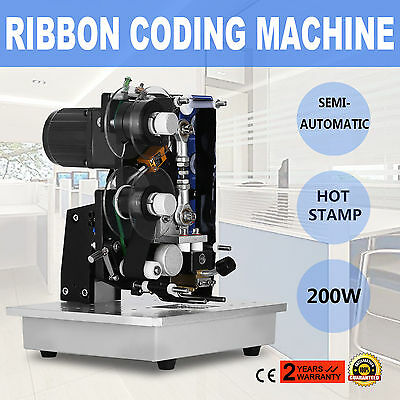 Semi-Automatic Electric Coder Hot Stamp Ribbon Coding Printer Machine  EXCELLENT