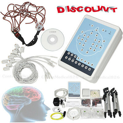 KT88 Digital Brain Electric Activity Mapping EEG Machine 16 Channel,CD+2 Tripods