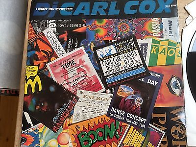 """Carl Cox - I Want You Forever : 12"""" Vinyl: Old Skool Rave Classic"""