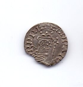 EDWARD THE CONFESSOR  (1059-62) Hammered Cross Penny Exeter Mint