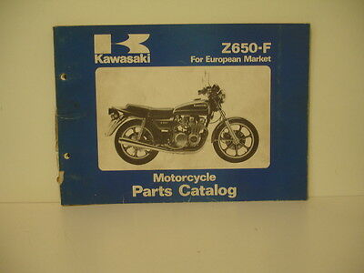 Kawasaki  Z650 F F2 F3  1979 Parts List Catalogue Pieces Detachees Lista Piezas