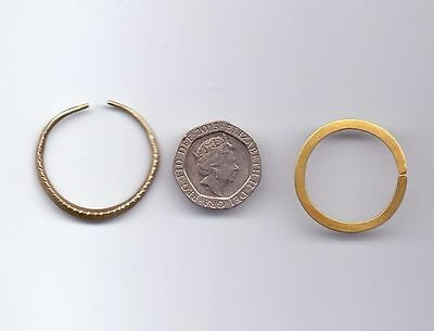 Celtic gold washer or ring (image on right only)