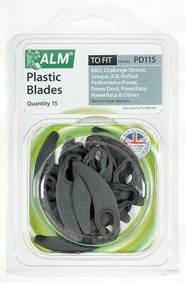 ALM Replacement Plastic Strimmer Blades Pack of 15
