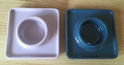 PANTONE UNIVERSE Set Of 2 Eggcups Egg Cup Lilac Blue BRAND NEW UNBOXED