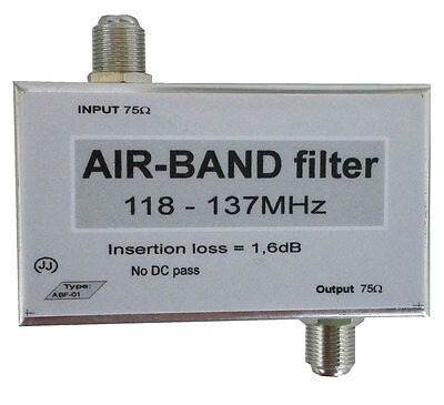 Air-Band filter, Band-pass filter 118-137MHz; Airband filter.