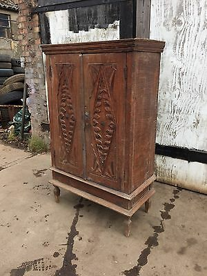 Hand Carved Antique Indonesian Cupboard, Retailed by Libertys of London