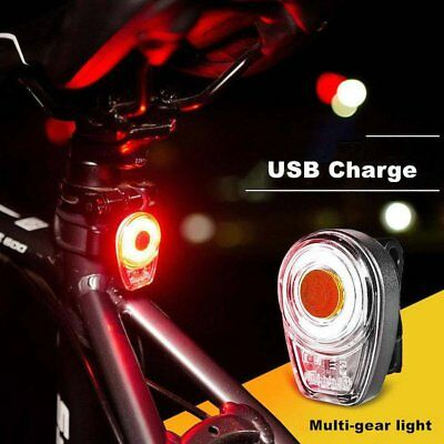 USB Rechargeable COB 60 LED Bicycle Bike Cycling Rear Tail Lights Security Lamps