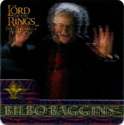 2002 Lord of the Rings ArtBox Action Flipz Lenticular #25 Bilbo Baggins