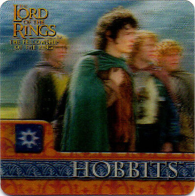 2002 Lord of the Rings ArtBox Action Flipz Lenticular #27 Hobbits