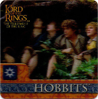 2002 Lord of the Rings ArtBox Action Flipz Lenticular #31 Hobbits