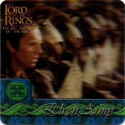 2002 Lord of the Rings ArtBox Action Flipz Lenticular #45 Elven Army