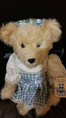 """Hewitt 13"""" SARA distressed mohair by Janet Reeves The Collectors Teddy Bear #6"""