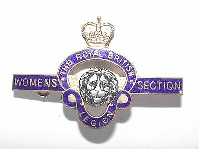 The Royal British Legion Womens Section Pin Badge Lion Crown