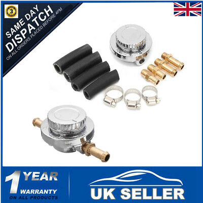 1-5 Psi Fuel Pump Pressure Regulator + 8Mm 10Mm Tails Adapter Carb Carburettor