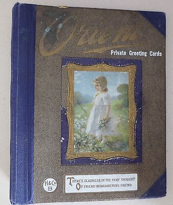 1934 Orient Private Greeting Cards Calendars Rare Vintage Sample Book 27 cards