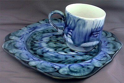 Wales. Portmadoc (Porthmadog) Pottery. Serving Plate And Cup Set