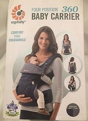 NEW - ErgoBaby 360 4 Position Baby Carrier Dusty Blue - FREE SHIPPING!!