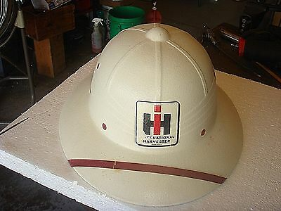 Vintage International Harvester Safari Pith Hat Helmet - Gas Oil Farm Tractor