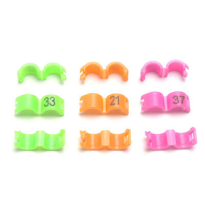 50pcs 4mm Numbered Clip Snap Bird Ring Leg Bands for Parrot Finch Canary Duck