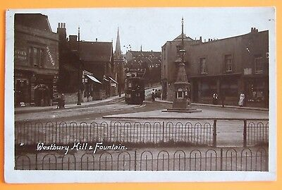 HARVEY BARTON RP Postcard POSTED 1912 WESTBURY HILL & FOUNTAIN BRISTOL