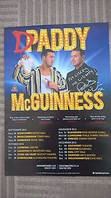 PADDY McGUINNESS SIGNED POSTER