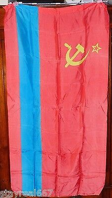 Authentic Huge Kazakh Soviet Socialist Republic Flag Good Condition