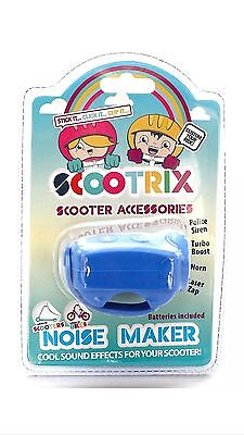 Scootrix - BLUE, Noise Maker - 4 Sound Effects for your Scooter or Bicycle - NEW