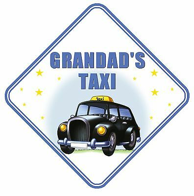 Grandad's Taxi Car Window Sign Non Personalised