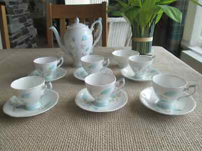 Royal Standard 2610 Floral 14 Piece Coffee Set